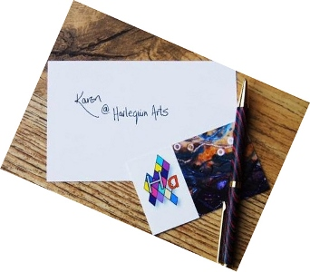 Business Card Karen Harlequin Arts