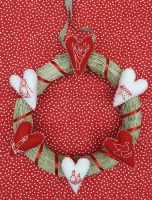 Advent Creative Quiet Day: Hand Stitched Heart Wreath 2020