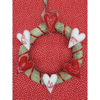 Do it Yourself Advent Creative Quiet Day: Hand Stitched Heart Wreath